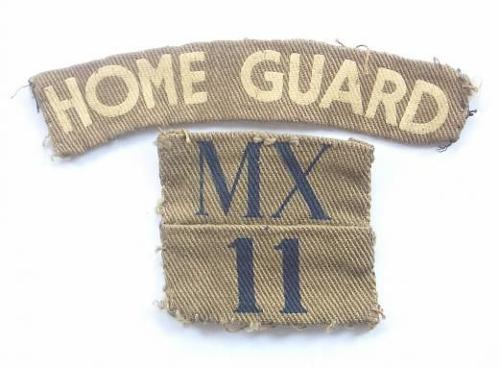 WW2 MX / 11 (Wealdstone, Middlesex) Home Guard printed designation & Title..