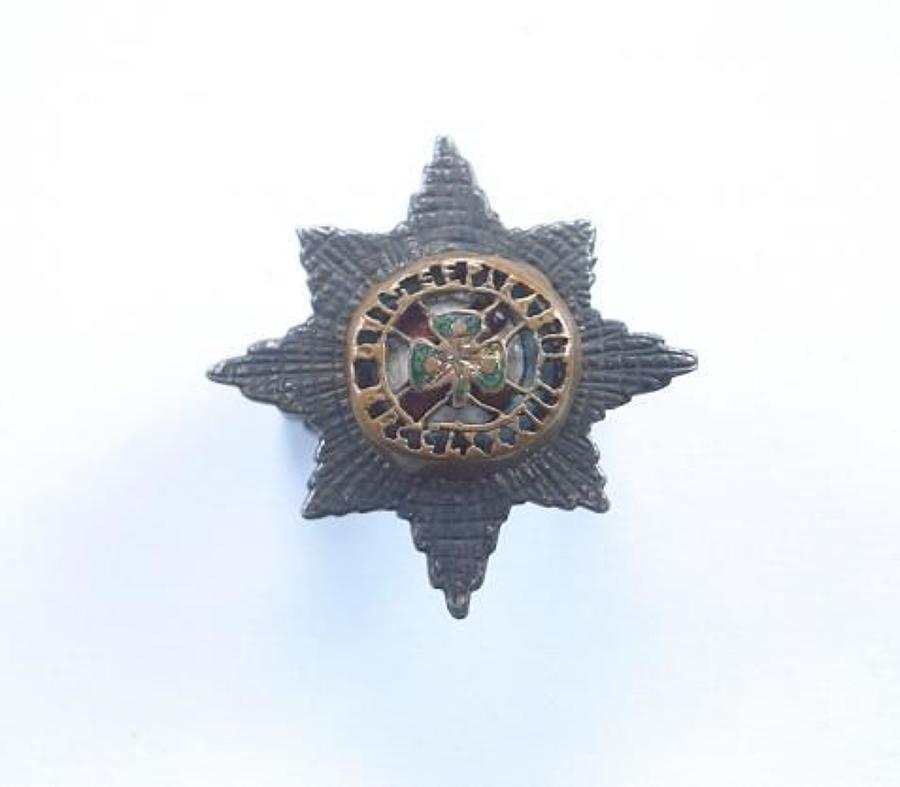 Irish Guards Service Dress Silver Cap Badge by L & Co.