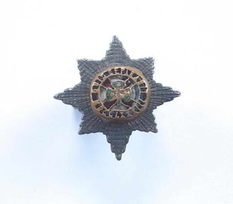 Irish Guards Service Dress Silver Cap Badge by L & Co.