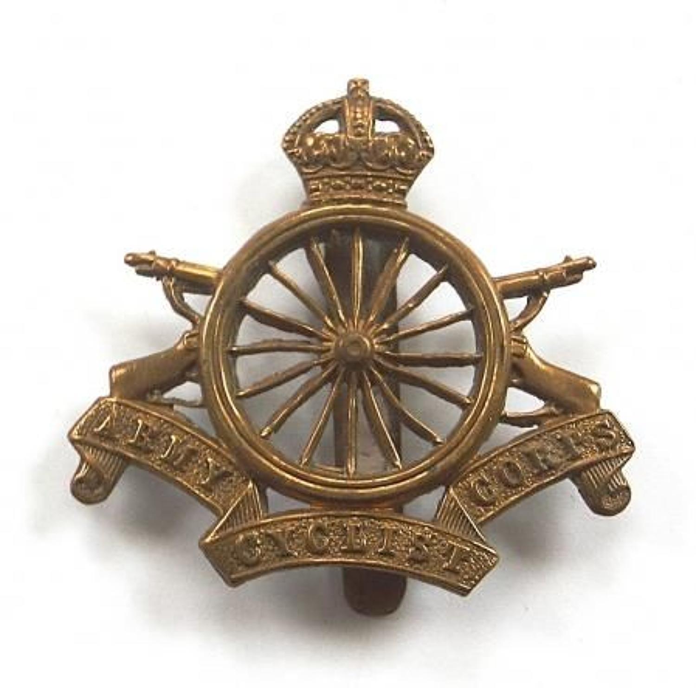 Army Cyclist Corps WW1 brass cap badge.