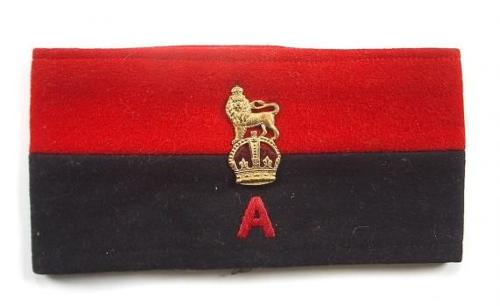 WW1 / WW2 British Staff Officer Armband.