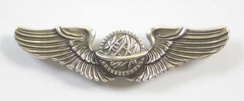US Air Force Silvered Aircrew Wings.