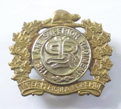 Canadian The Lake Superior Regiment cap badge.