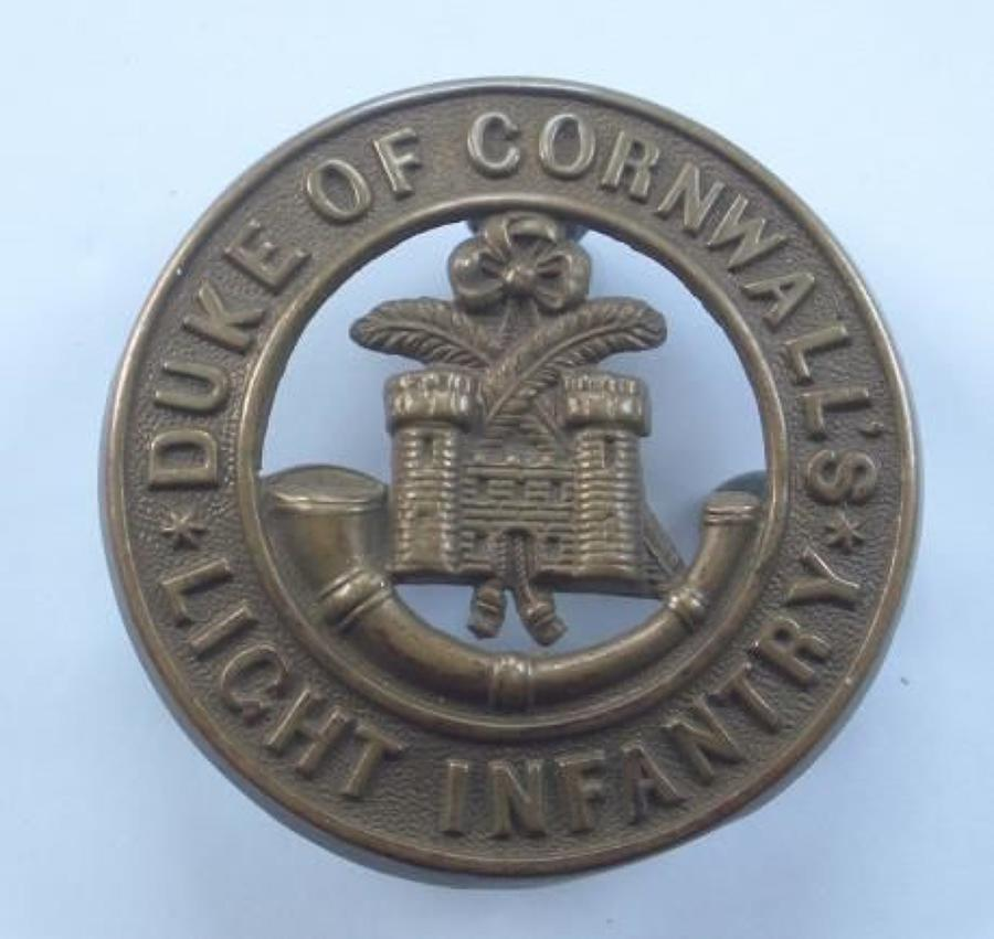 Duke of Cornwall's Light Infantry (DCLI) post 1881 helmet plate centre