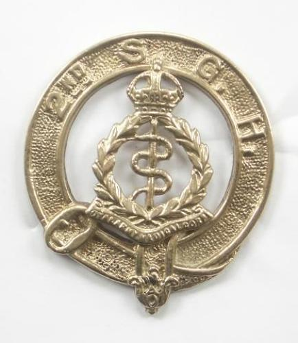 2nd Scottish General Hospital Royal Army Medical Corps piper's glengarry badge.