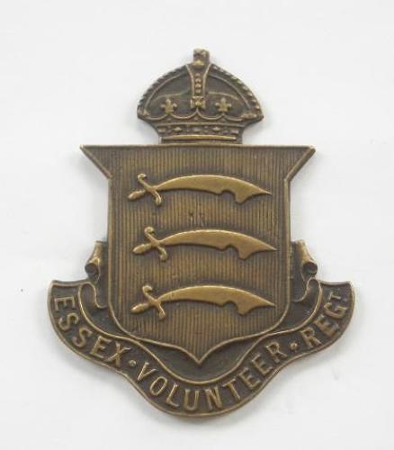 Essex Volunteer Regiment WW1 VTC cap badge by Meggy, Thompson  & Creasey of Chelmsford.