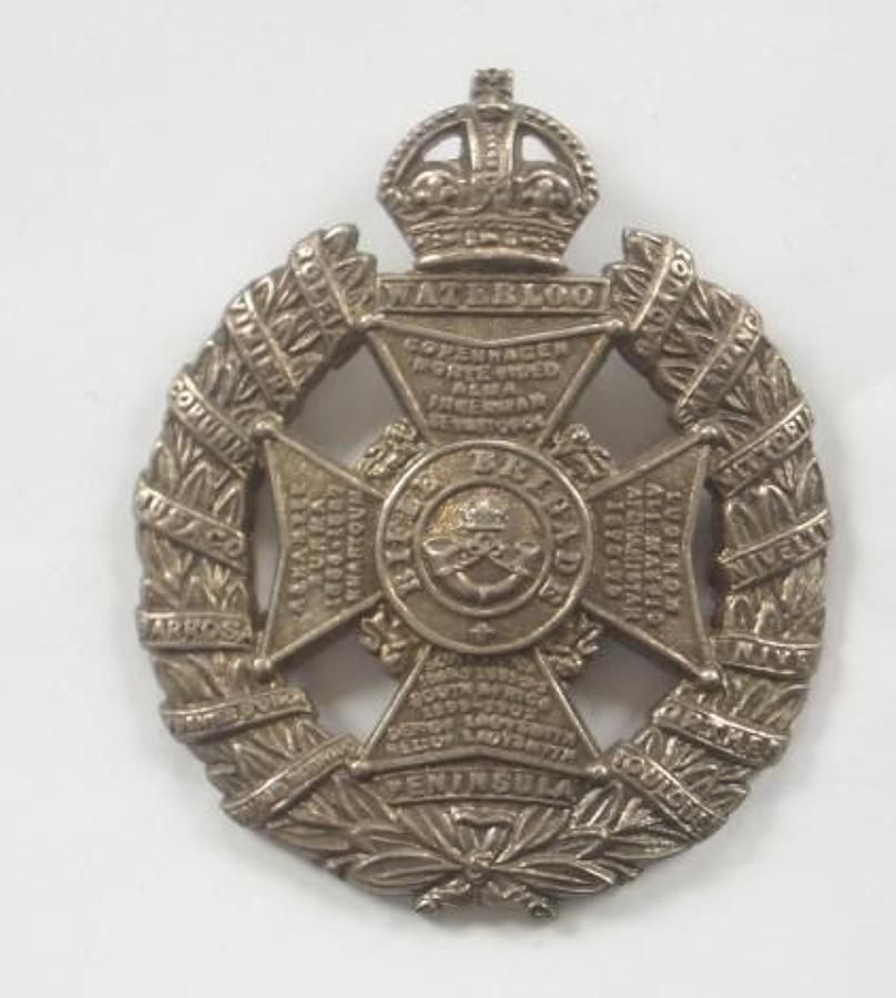 Rifle Brigade WW1 Silver Cap Badge.