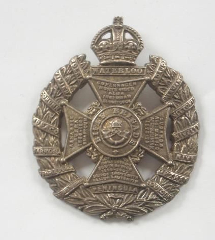 Rifle Brigade WW1 Silver Cap Badge.