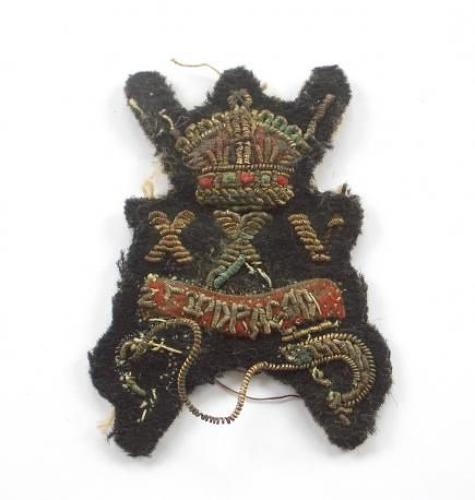 25th Dragoons scarce WW2 NCOs Bullion Arm Badge.