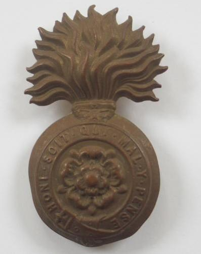 Royal Fusiliers Victorian OR's glengarry grenade circa 1881-96.