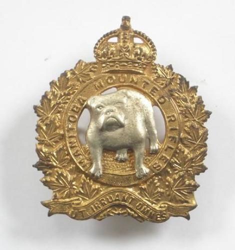 Canadian Manitoba Mounted Rifles cap badge.