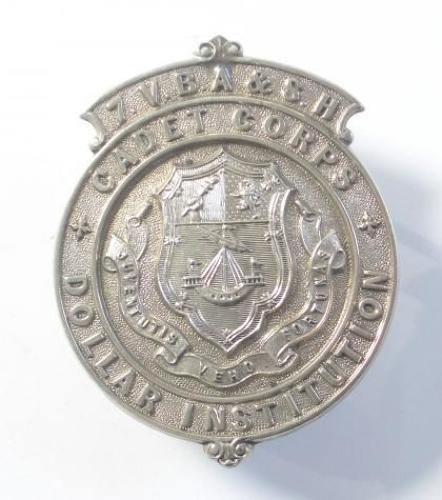 Scottish. 7th VB Argyll & Sutherland Highlanders Dollar Institution Cadet Corps glengarry badge circa 1890-1908.