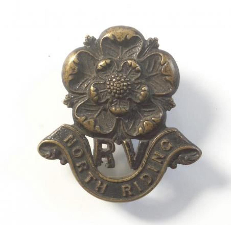 North Riding Rifle Volunteers WW1 Yorkshire VTC cap badge