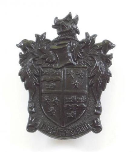 Tonbridge School OTC scarce black plastic cap badge