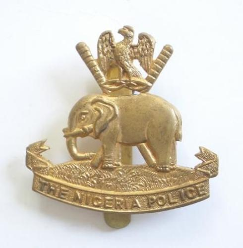 The Nigeria Police Brass Cap Badge by Firmin London.
