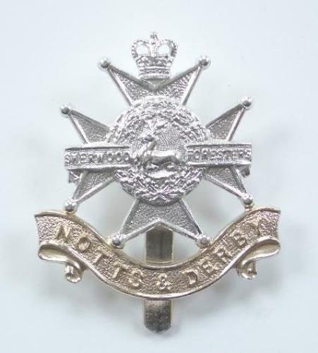 Sherwood Foresters, Notts & Derby anodised Cap Badge by JR Gaunt, B'ham