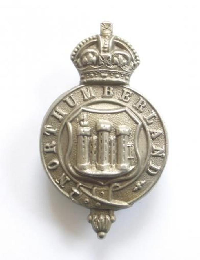 Northumberland Police Cap Badge, probaby Edwardian