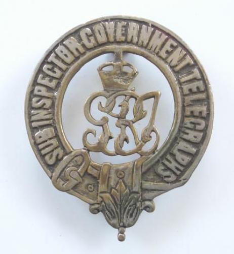Sub Inspector Government Telegraphs George V period badge.