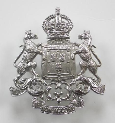 Scottish. Aberdeen City Police chrome cap badge.