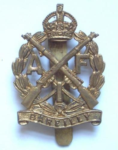 Indian Army. Bareilly Contingent scarce AFI cap badge.