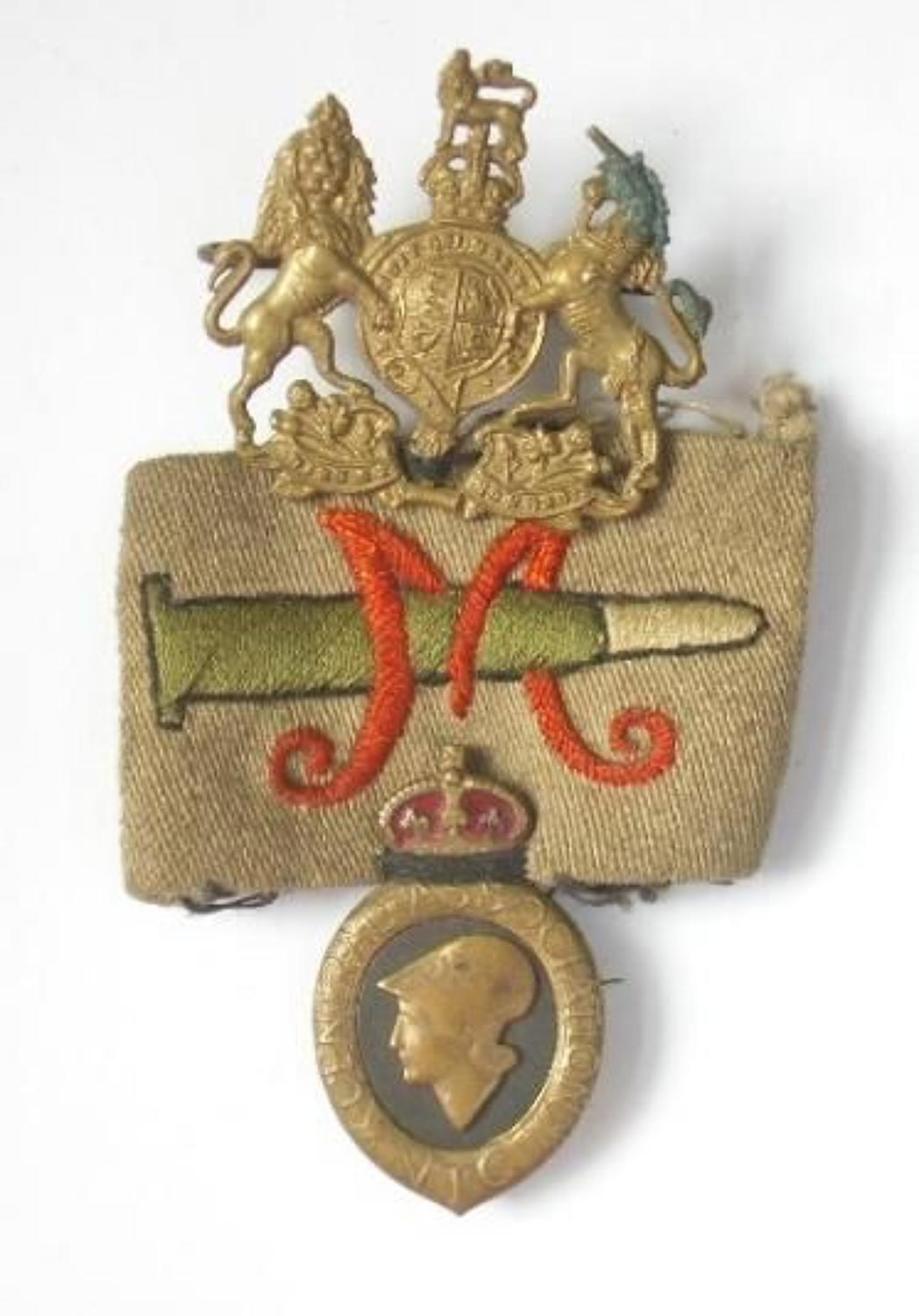 WW1 Volunteer Training Corps VTC marksman insignia.
