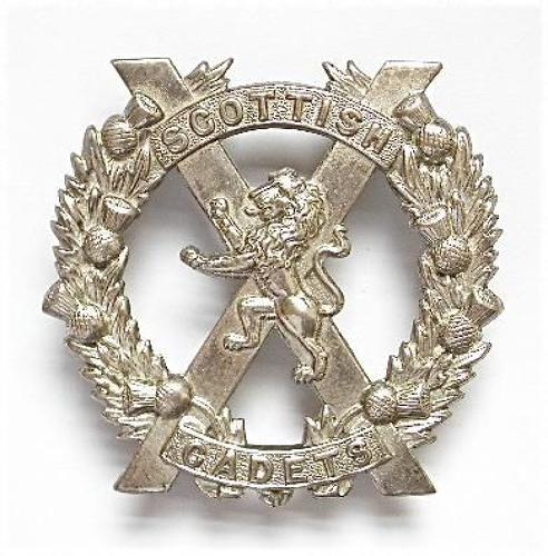 Scottish Cadets rare senior NCO's glengarry badge.