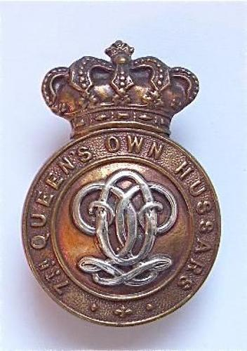 7th Queen's Own Hussars Victorian OR's cap badge circa 1896-1901.