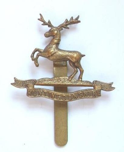 WW1 Huntingdon Cyclist Battalion brass cap badge