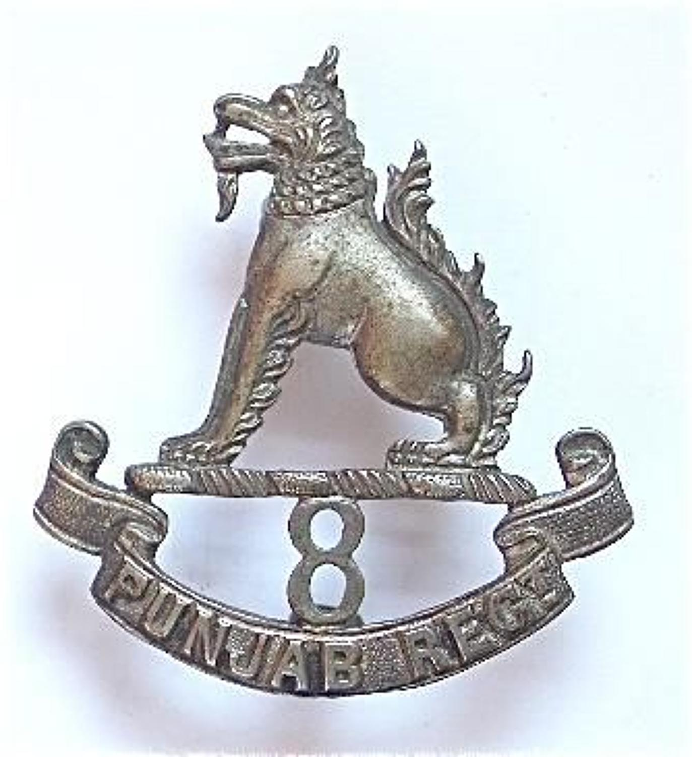 Indian Army 8th Punjab Regiment cap badge.