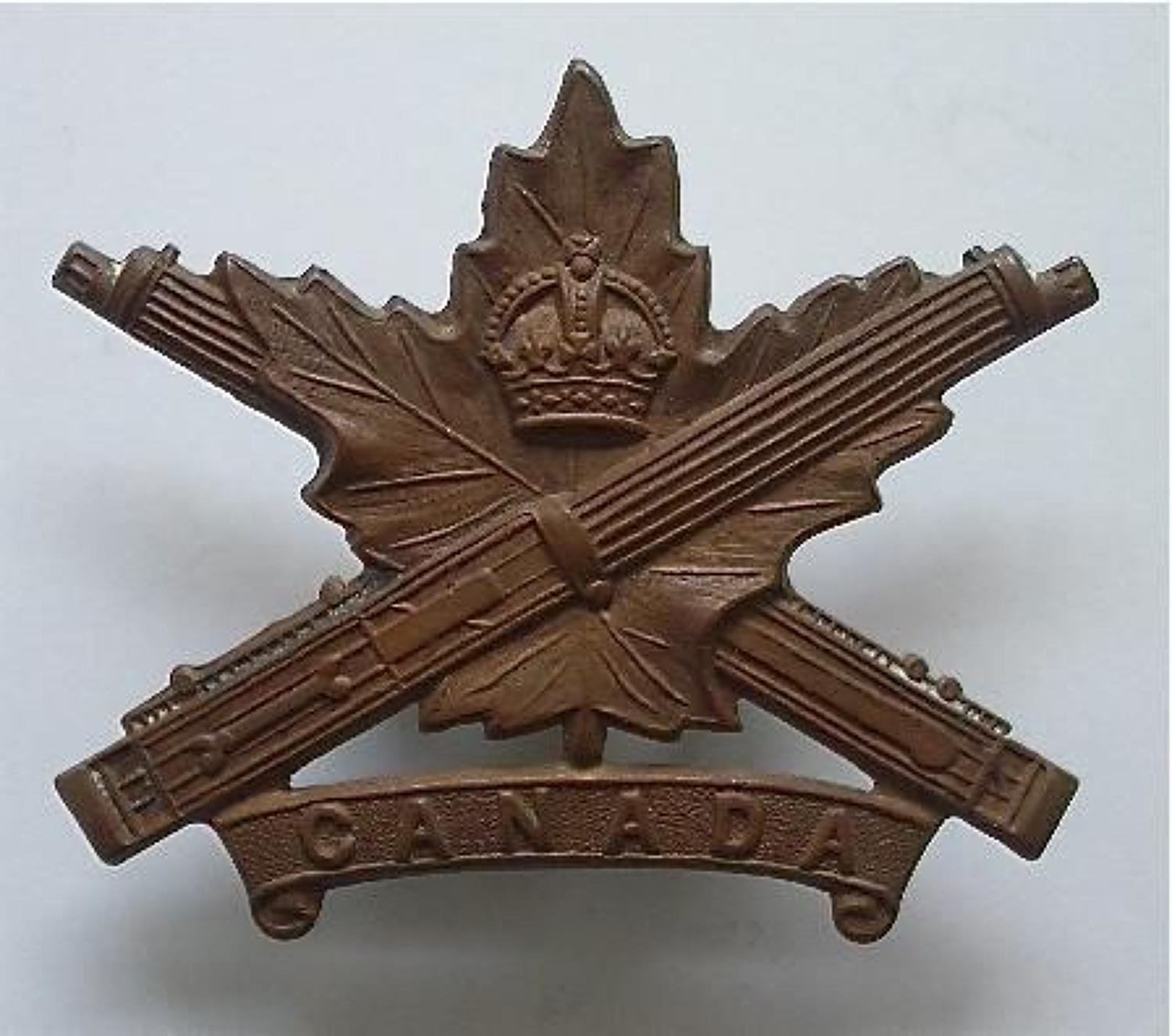 Canadian WWI Machine gun Corps / 2nd Machine Gun Battalion CEF cap bad