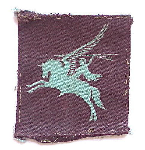 WW2 Airborne printed Pegasus formation sign.