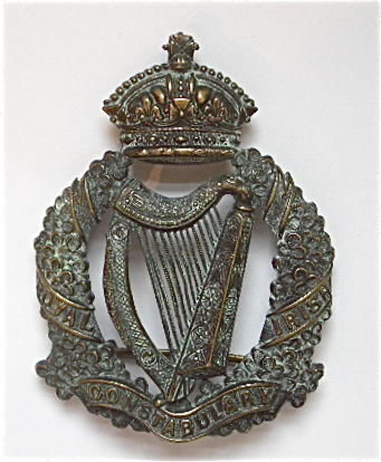 Royal Irish Constabulary Victorian helmet plate circa 1880-1902.
