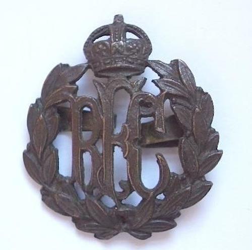 WW1 RFC Royal Flying Corps Officer's OSD bronze Cap Badge