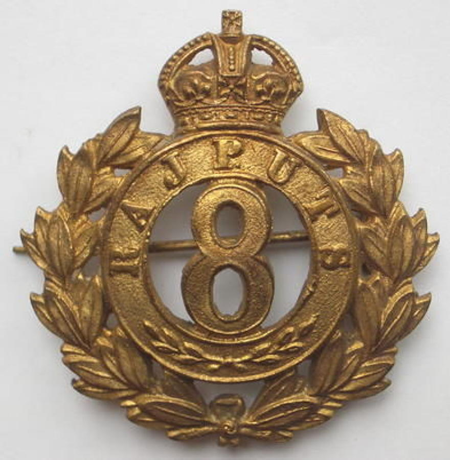 8th Rajputs pagri badge circa 1903-22.