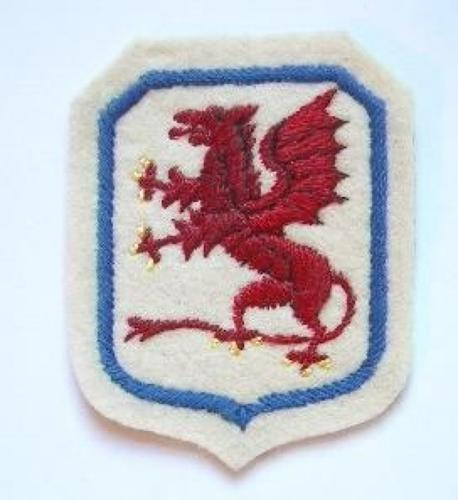 7th Polish Infantry Division WW2 embroidered formation sign circa 1944-45.
