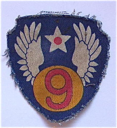 WW2 US 9th Air Force English Printed Cloth Badge.