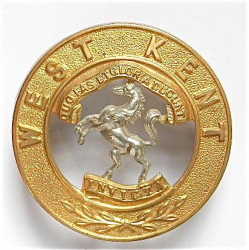 West Kent Regiment post 1881 NCO's Helmet Plate Centre.