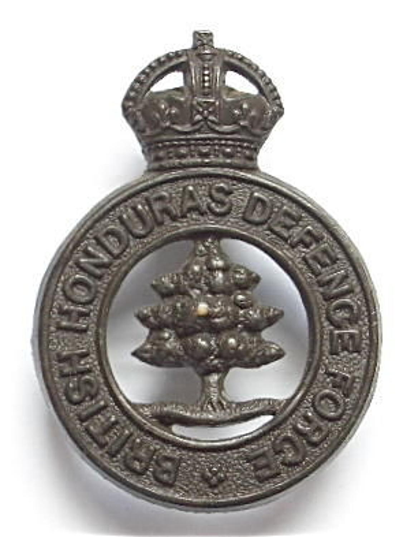 British Honduras Defence Force scarce post 1928 bronze cap badge.