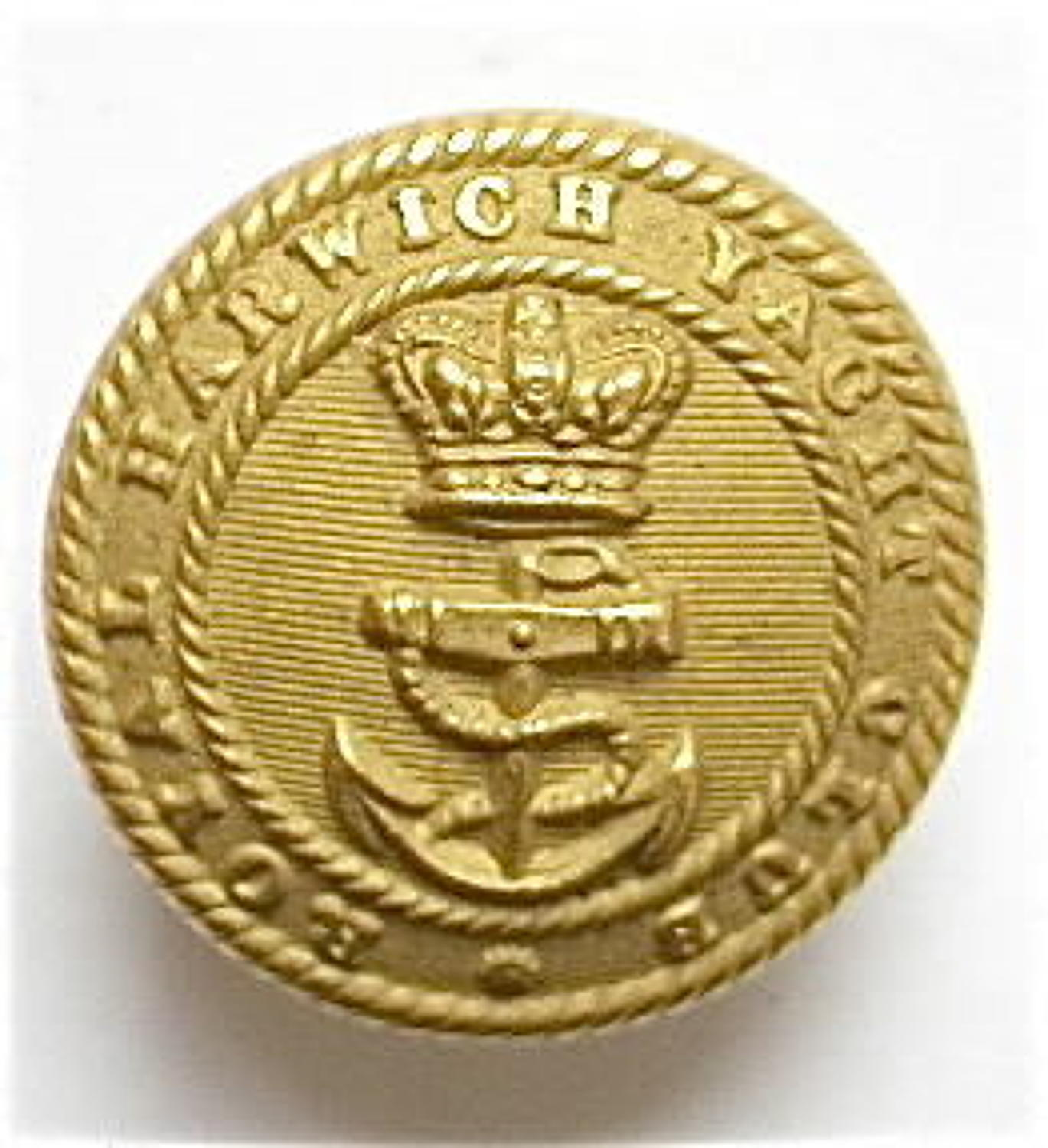 Royal Harwich Yacht Club Victorian gilt button