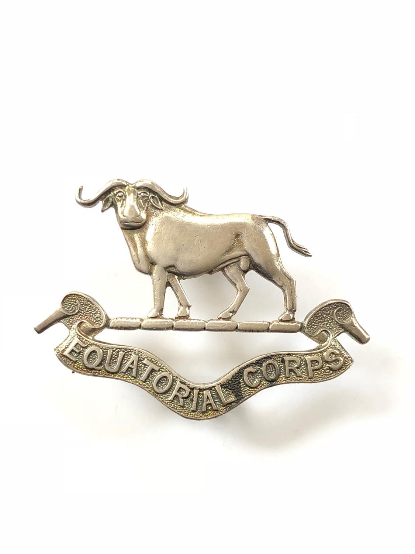 Sudan. Equatorial Corps HM silver cap badge