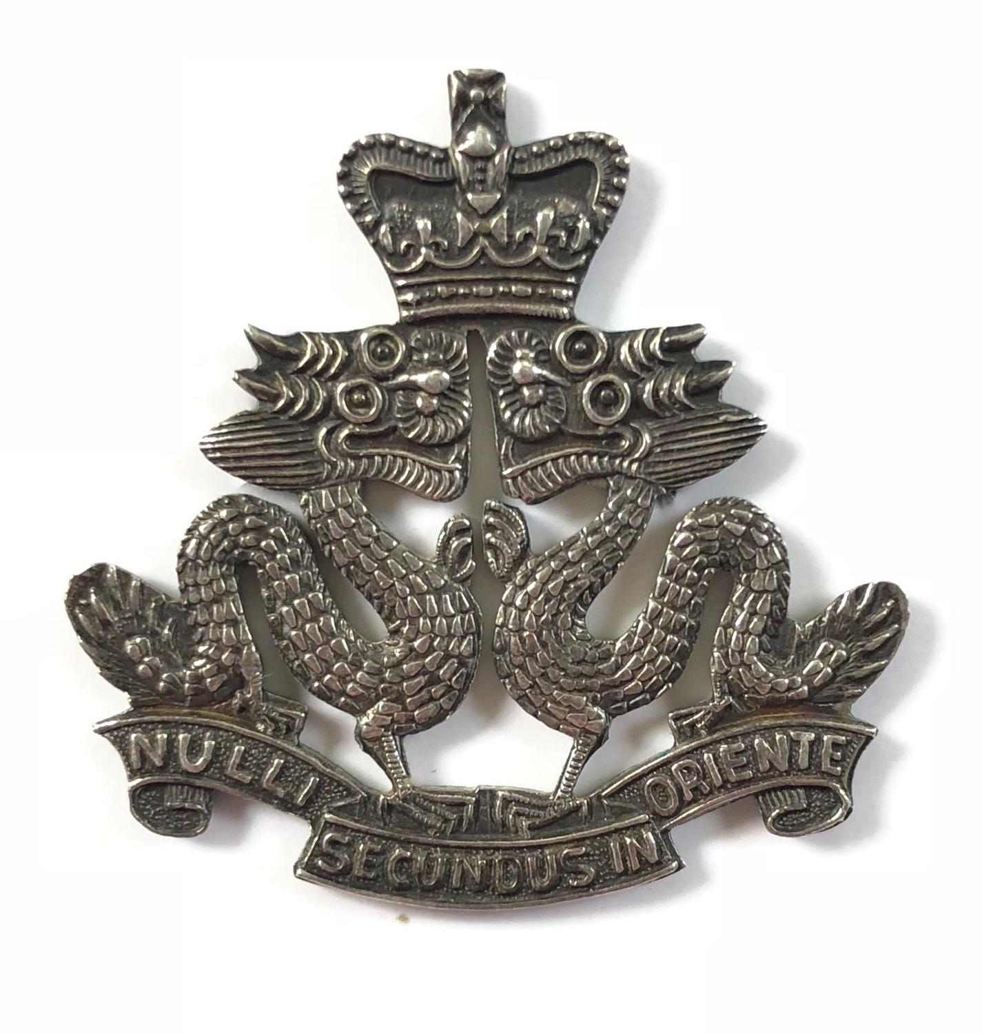 Hong Kong Regiment post 1953 Officer's silver cap badge