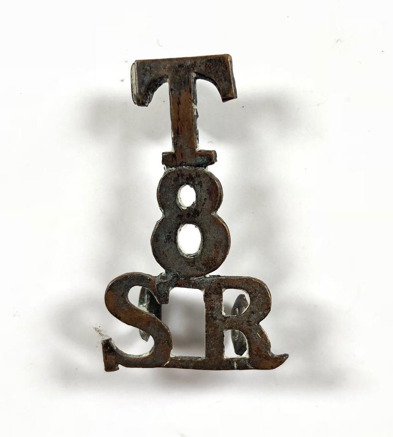 T / 8 / SR scarce Cameronians (Scottish Rifles) shoulder title