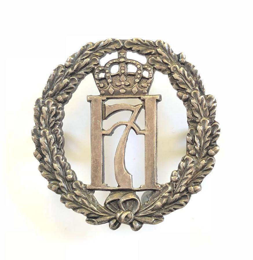 WW2 Free Norwegian Forces 1943 Birmingham hallmarked silver cap badge