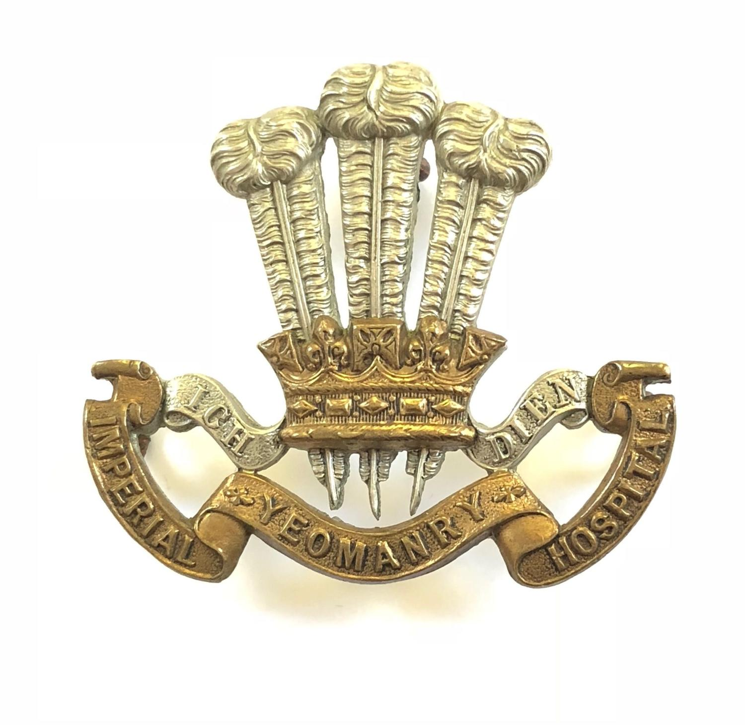 Imperial Yeomanry Hospital Boer War bi-metal slouch hat badge