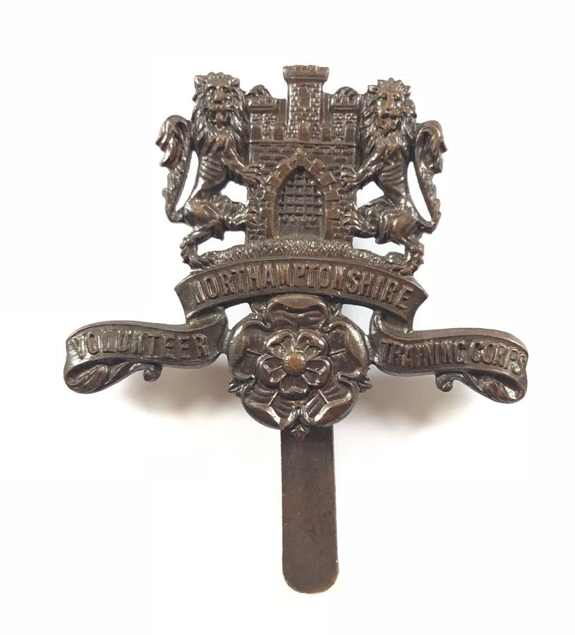 Northamptonshire VTC WW1 scarce bronze cap badge