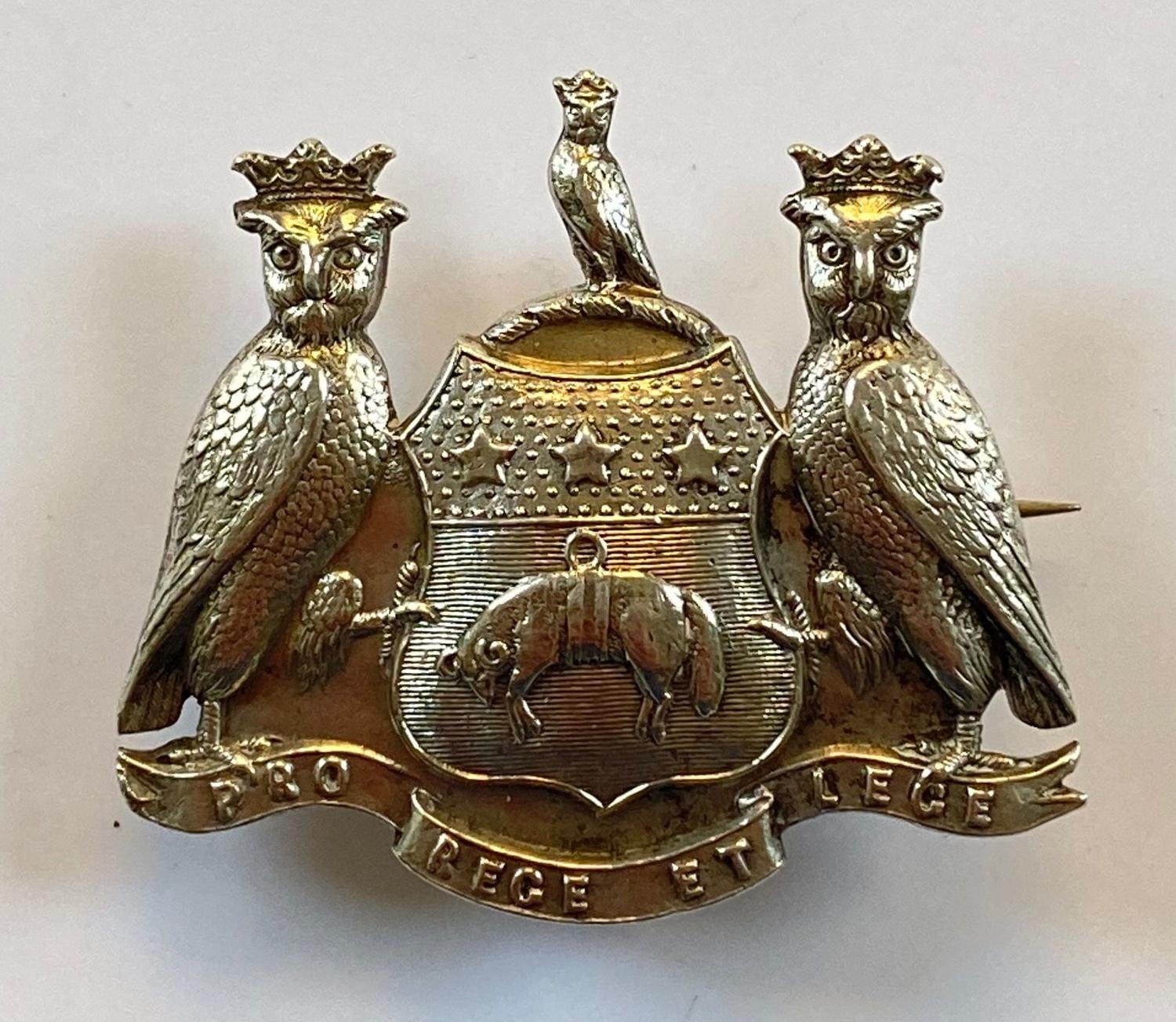 Leeds Pals rare WW1 silver Kitchener's Army cap badge