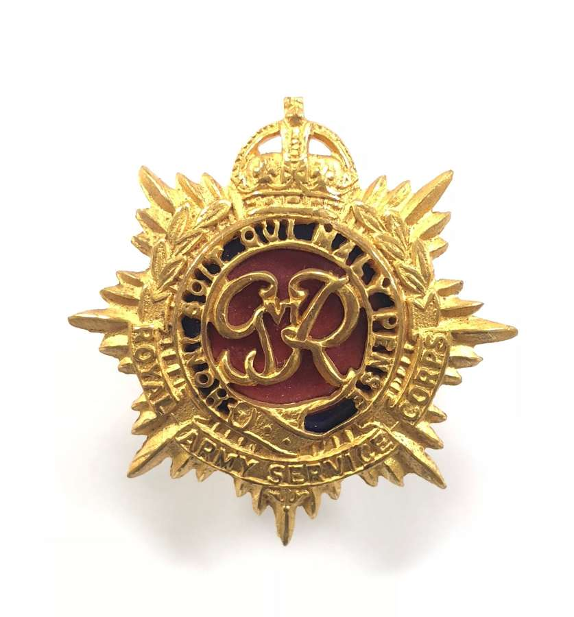 Royal Army Service Corps GVIR Officer's cap badge