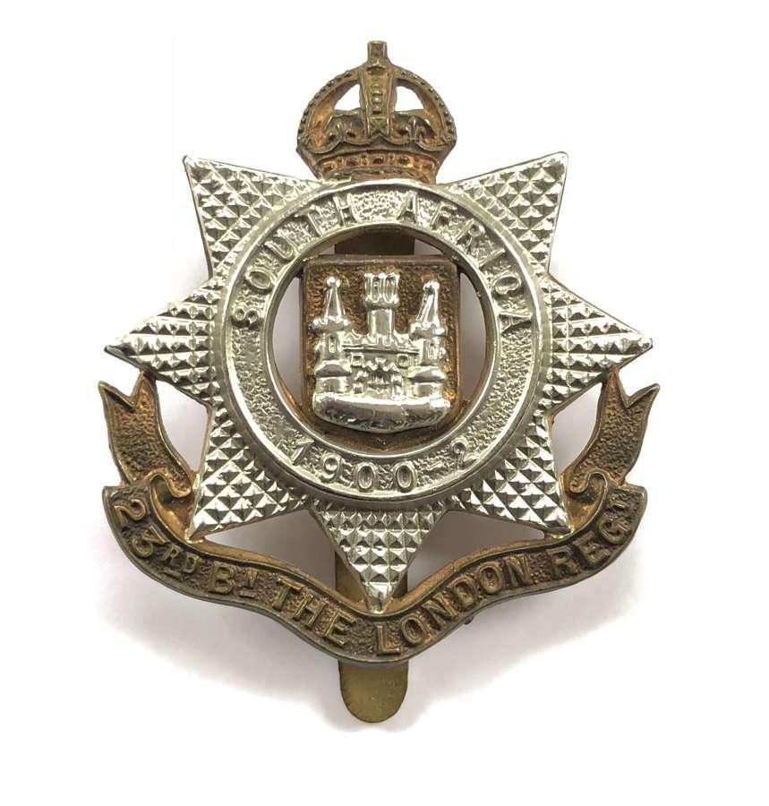 23rd London post 1908 cap badge