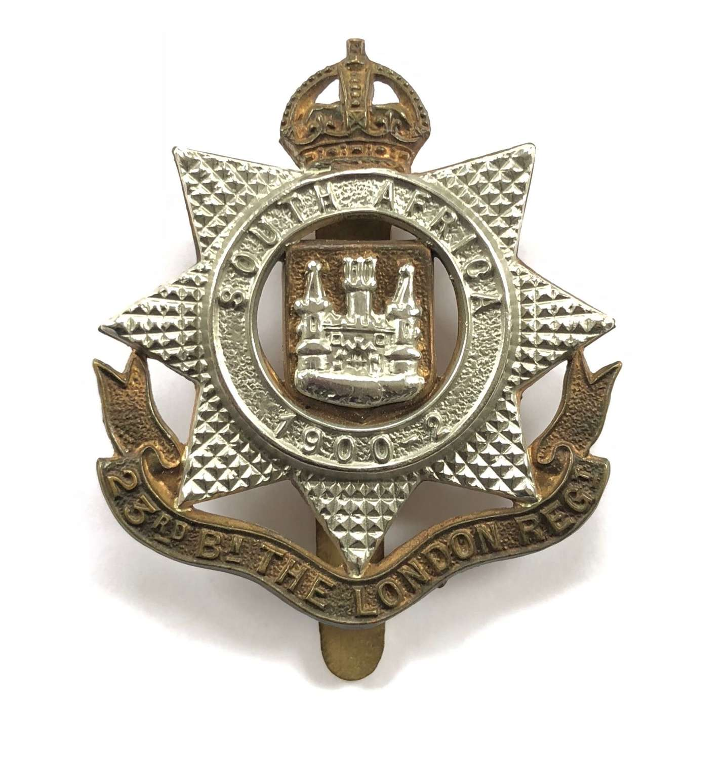 23rd London post 1908 cap badge