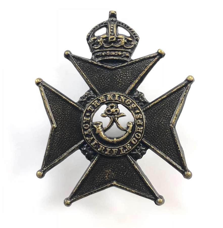 King's Royal Rifle Corps Militia Edwardian cap badge circa 1901-08